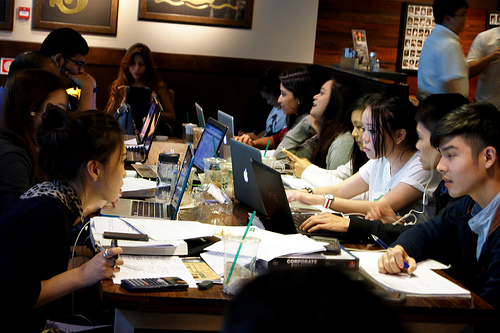 Studying in Starbucks by quatar, on Flickr