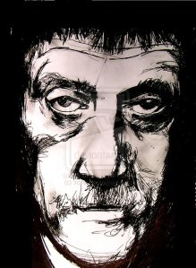 Kurt Vonnegut by scifo on Deviant Art.