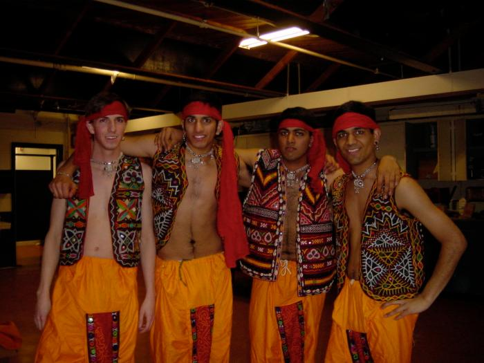 Dance - costume fun- frank, ravi, shiva, ananda (village-hero-wannabes)