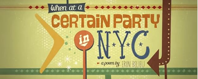 On poetry: Erin Belieu's 'When at a Certain Party inNYC'