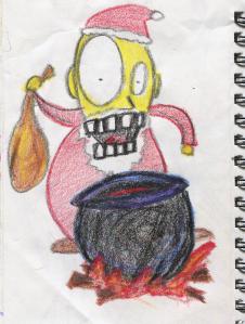 santa and his cauldron