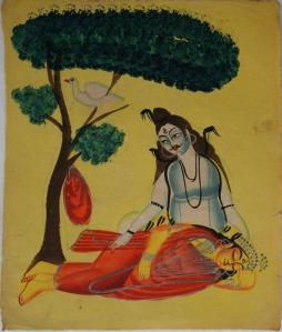 Kalighat_Shiva_mourns_Sati