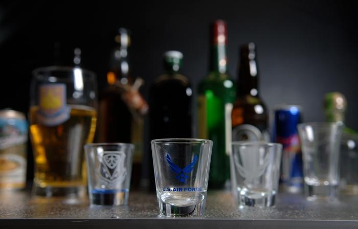 On drinking.
