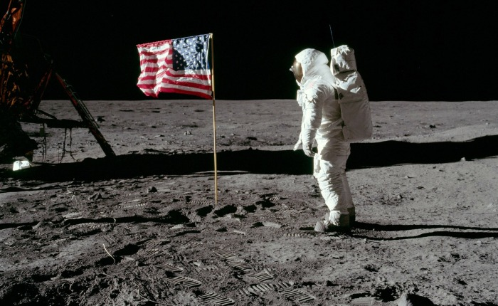 On the moon landing, and who benefits if you believe it was faked.